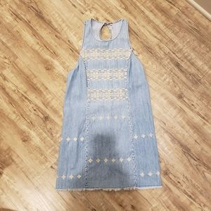 Free People Embroidered Jean Dress